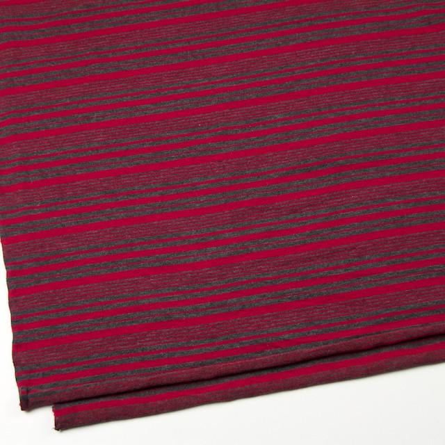 テンセル&ウール混×ボーダー(レッド)×天竺ニット_全2色 イメージ2