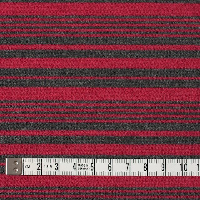 テンセル&ウール混×ボーダー(レッド)×天竺ニット_全2色 イメージ4