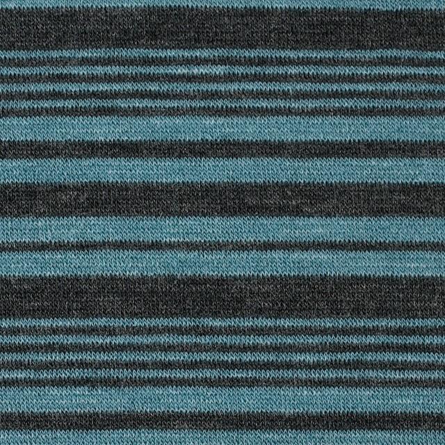 テンセル&ウール混×ボーダー(ブルーグレー)×天竺ニット_全2色 イメージ1