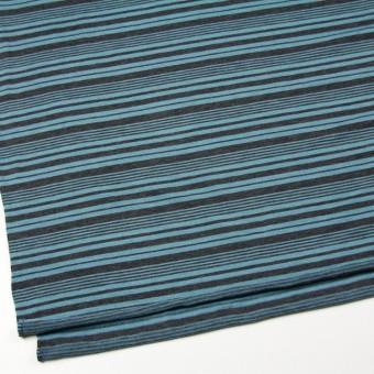 テンセル&ウール混×ボーダー(ブルーグレー)×天竺ニット_全2色 サムネイル2
