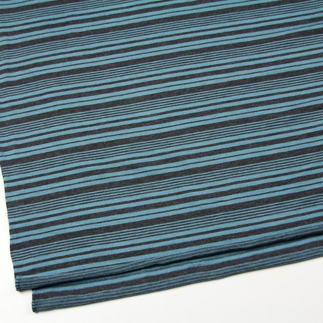テンセル&ウール混×ボーダー(ブルーグレー)×天竺ニット_全2色 イメージ2