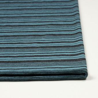 テンセル&ウール混×ボーダー(ブルーグレー)×天竺ニット_全2色 サムネイル3
