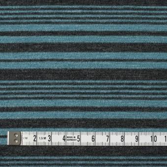 テンセル&ウール混×ボーダー(ブルーグレー)×天竺ニット_全2色 サムネイル4
