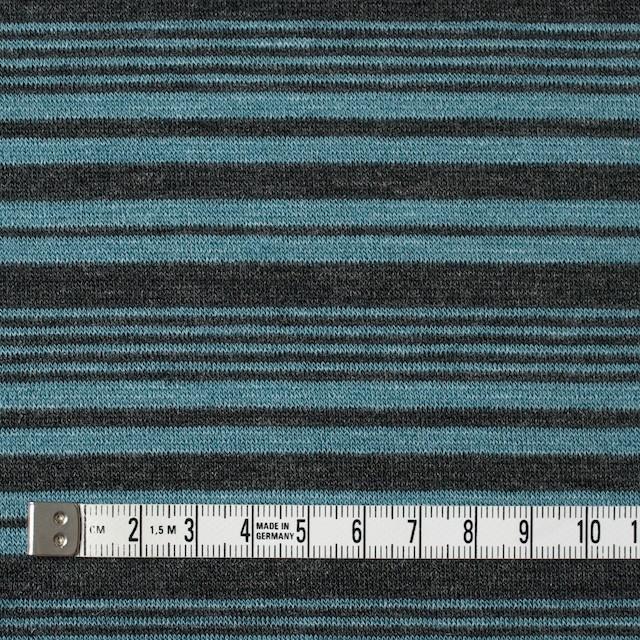 テンセル&ウール混×ボーダー(ブルーグレー)×天竺ニット_全2色 イメージ4