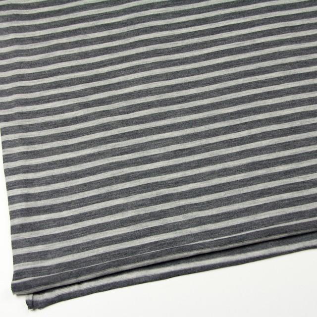 ウール×ボーダー(グレー)×天竺ニット イメージ2