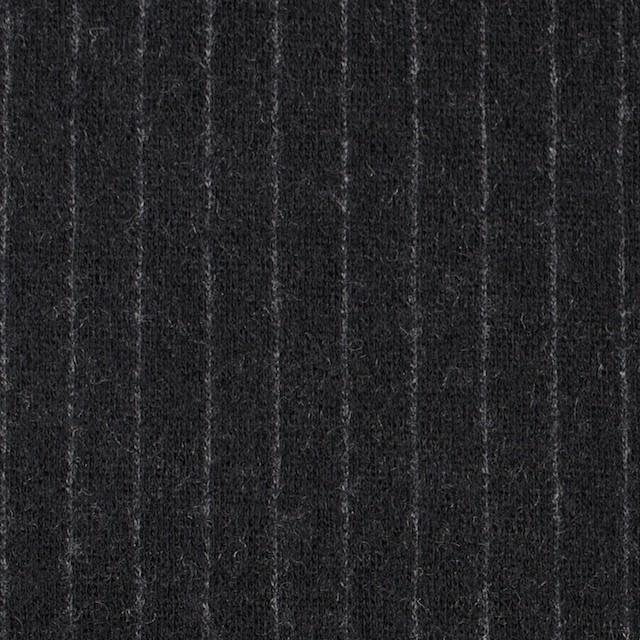 ウール×ストライプ(ブラック)×Wニット イメージ1