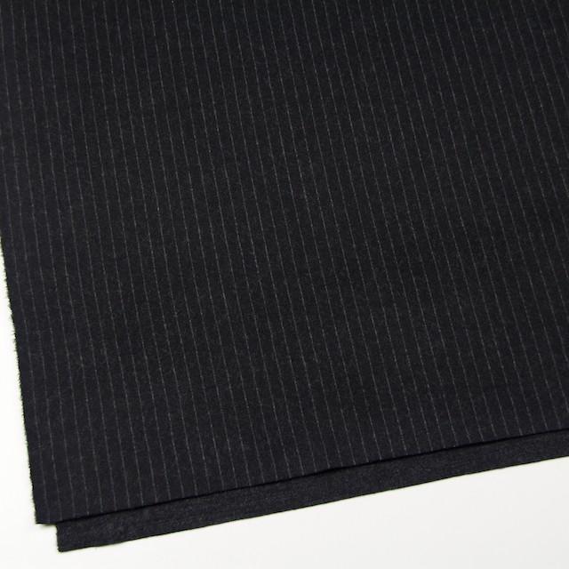 ウール×ストライプ(ブラック)×Wニット イメージ2