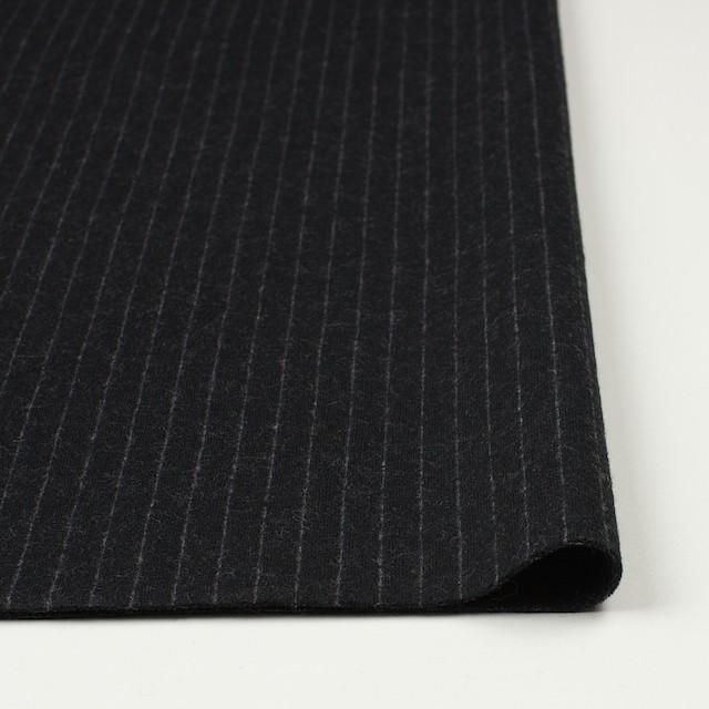 ウール×ストライプ(ブラック)×Wニット イメージ3