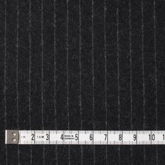 ウール×ストライプ(ブラック)×Wニット サムネイル4