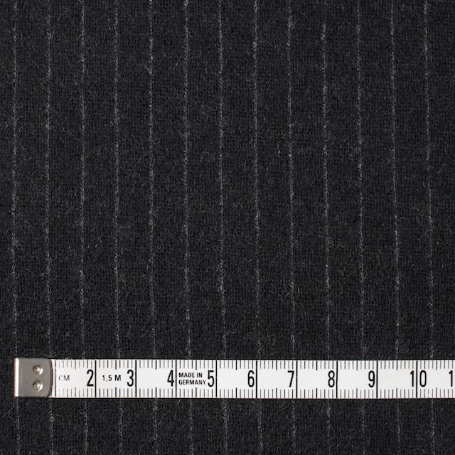 ウール×ストライプ(ブラック)×Wニット イメージ4