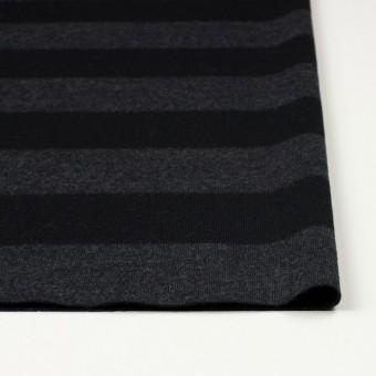 ウール×ボーダー(チャコールグレー&ブラック)×天竺ニット サムネイル3