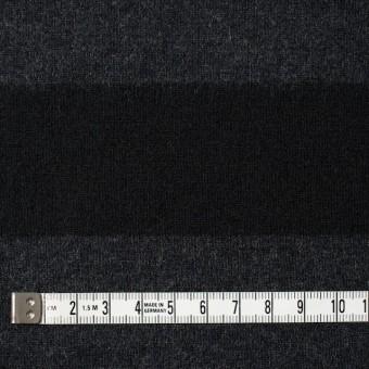ウール×ボーダー(チャコールグレー&ブラック)×天竺ニット サムネイル4