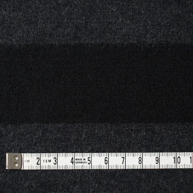ウール×ボーダー(チャコールグレー&ブラック)×天竺ニット イメージ4