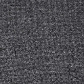 ウール×無地(チャコールグレー)×天竺ニット サムネイル1