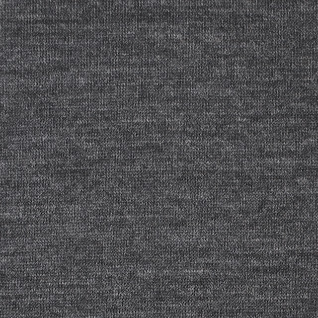 ウール×無地(チャコールグレー)×天竺ニット イメージ1