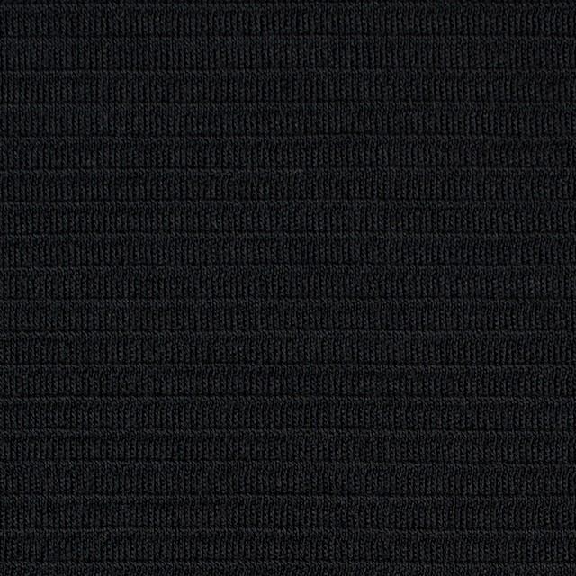 ウール×無地(ブラック)×Wニット イメージ1