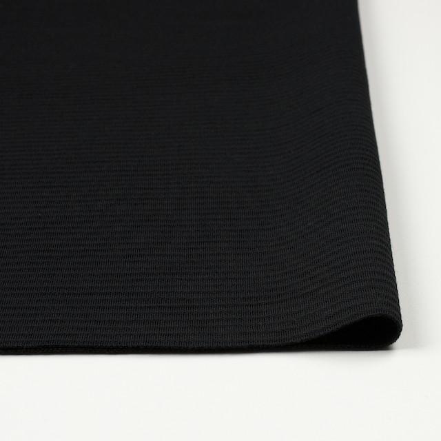 ウール×無地(ブラック)×Wニット イメージ3
