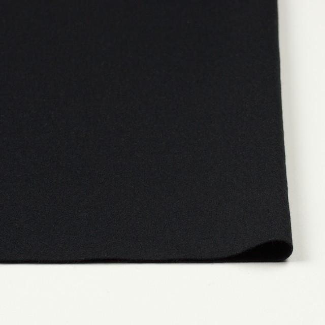 ウール×無地(ブラック)×圧縮天竺ニット イメージ3