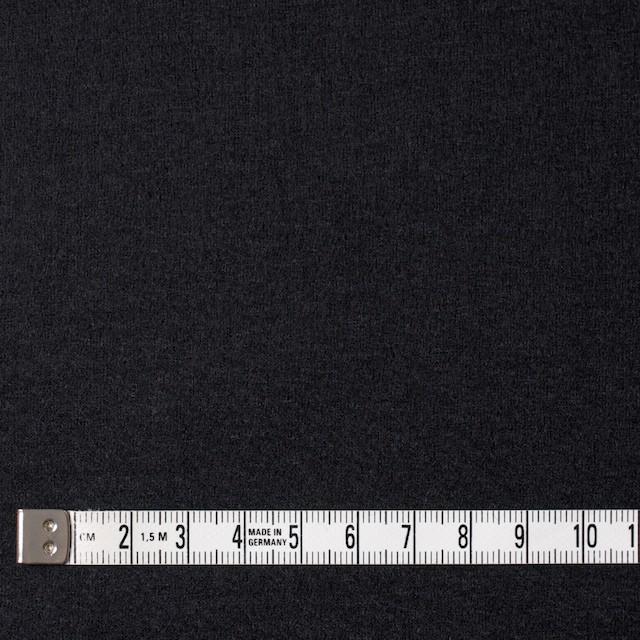 ウール×無地(ブラック)×圧縮天竺ニット イメージ4
