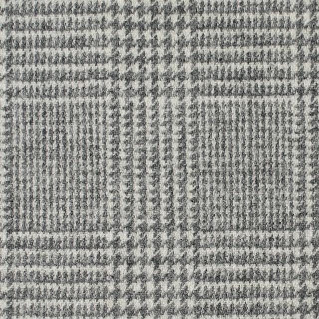 ウール&ナイロン混×グレンチェック(ライトグレー)×千鳥格子_全2色 イメージ1