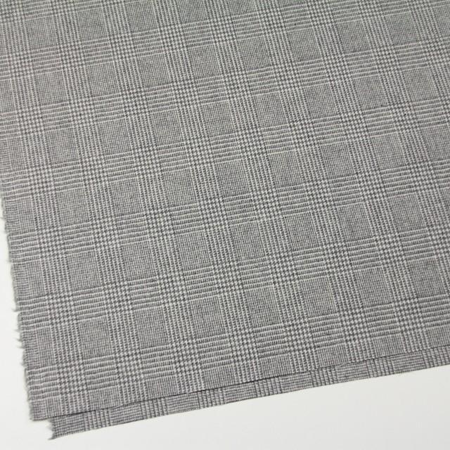 ウール&ナイロン混×グレンチェック(ライトグレー)×千鳥格子_全2色 イメージ2