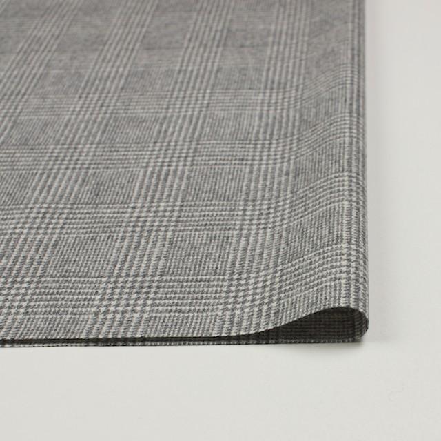 ウール&ナイロン混×グレンチェック(ライトグレー)×千鳥格子_全2色 イメージ3