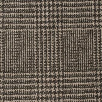 ウール&ナイロン混×グレンチェック(ブラウン)×千鳥格子_全2色 サムネイル1