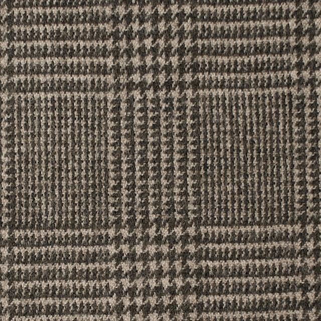 ウール&ナイロン混×グレンチェック(ブラウン)×千鳥格子_全2色 イメージ1