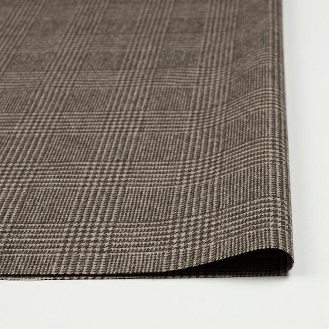ウール&ナイロン混×グレンチェック(ブラウン)×千鳥格子_全2色 イメージ3