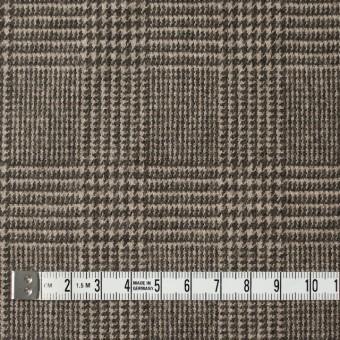 ウール&ナイロン混×グレンチェック(ブラウン)×千鳥格子_全2色 サムネイル4