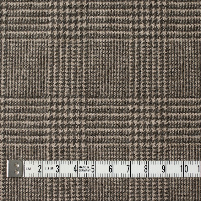 ウール&ナイロン混×グレンチェック(ブラウン)×千鳥格子_全2色 イメージ4