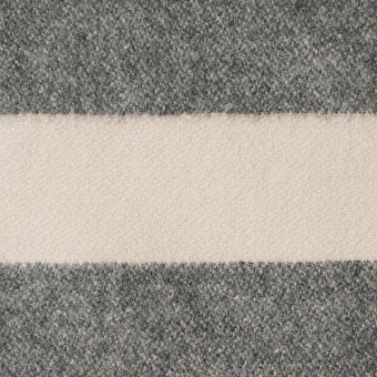 ウール&ナイロン×ボーダー(キナリ&グレー)×フランネル サムネイル1