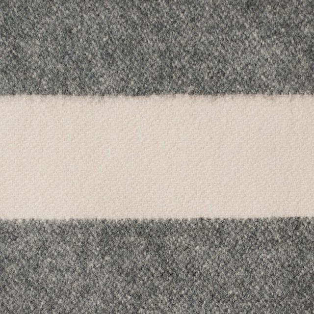 ウール&ナイロン×ボーダー(キナリ&グレー)×フランネル イメージ1