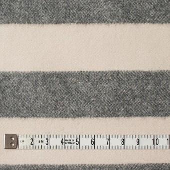 ウール&ナイロン×ボーダー(キナリ&グレー)×フランネル サムネイル4