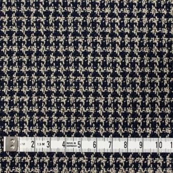 ウール&ポリエステル×チェック(ベージュ&ネイビー)×千鳥格子 サムネイル4