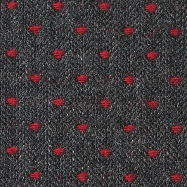 ウール&ナイロン×ドット(レッド&チャコールグレー)×ヘリンボーンジャガード イメージ1