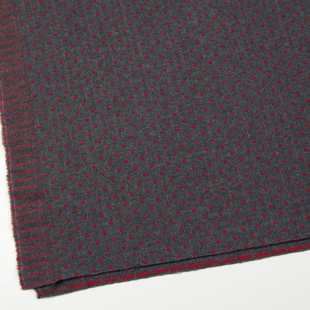 ウール&ナイロン×ドット(レッド&チャコールグレー)×ヘリンボーンジャガード イメージ2