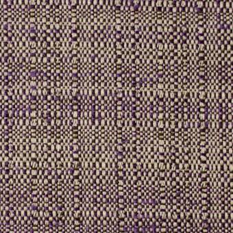 ウール&ポリエステル×ミックス(キナリ&パープル)×ツイード サムネイル1