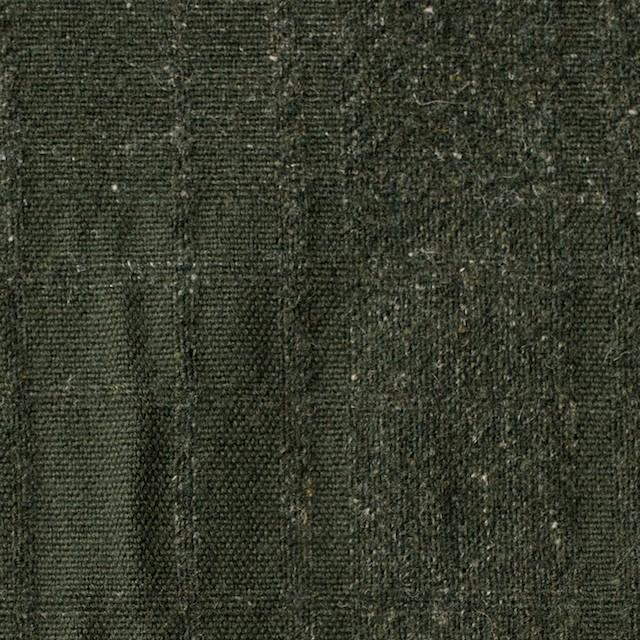 ウール×無地(ダークグリーン)×ツイードジャガード イメージ1