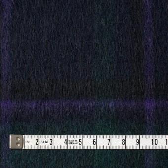 ウール×タータンチェック(グリーンミックス)×シャギー サムネイル4