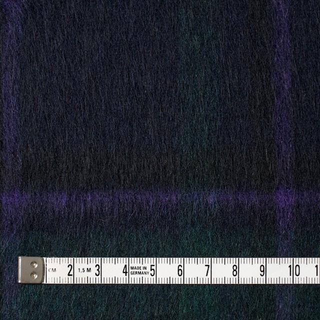 ウール×タータンチェック(グリーンミックス)×シャギー イメージ4
