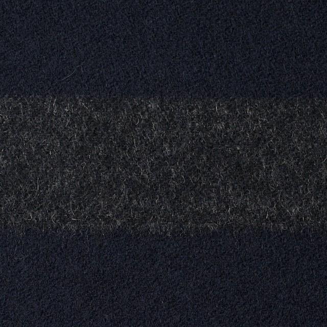 ウール&ナイロン×ボーダー(グレー&ネイビー)×フランネル イメージ1