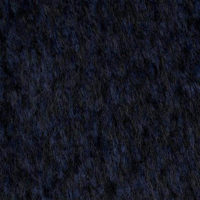 ウール×ミックス(ネイビー&ブラック)×シャギー イメージ1