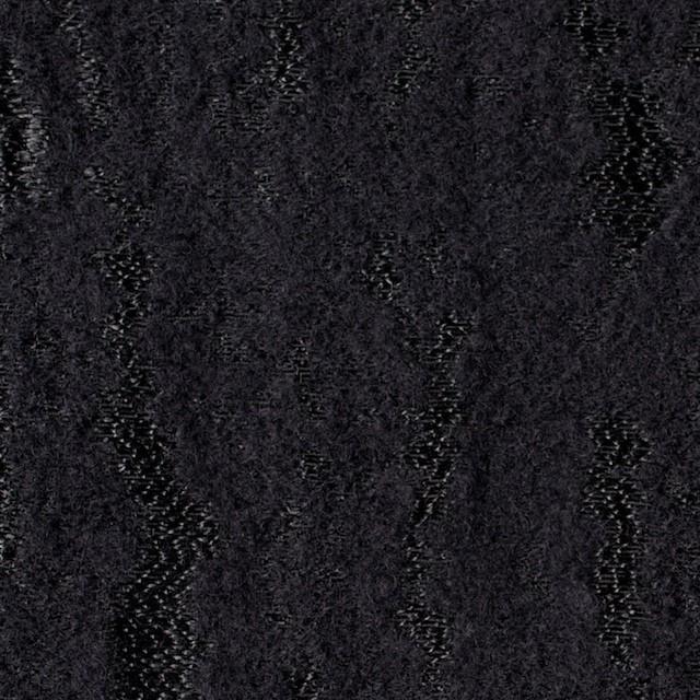 ウール&ナイロン混×無地(ブラック)×ジャガード イメージ1