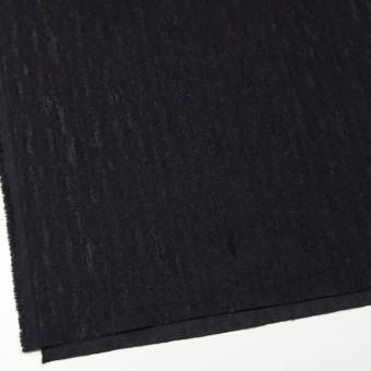 ウール&ナイロン混×無地(ブラック)×ジャガード サムネイル2