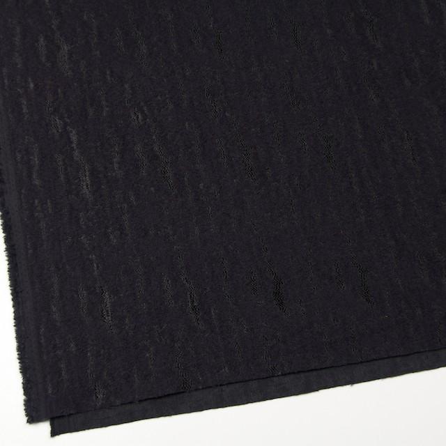 ウール&ナイロン混×無地(ブラック)×ジャガード イメージ2