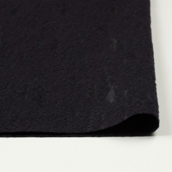 ウール&ナイロン混×無地(ブラック)×ジャガード サムネイル3