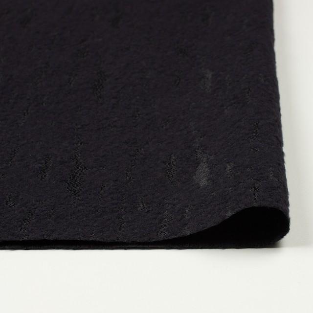 ウール&ナイロン混×無地(ブラック)×ジャガード イメージ3