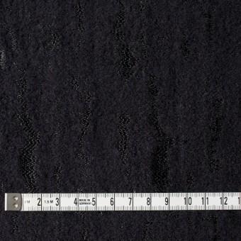 ウール&ナイロン混×無地(ブラック)×ジャガード サムネイル4