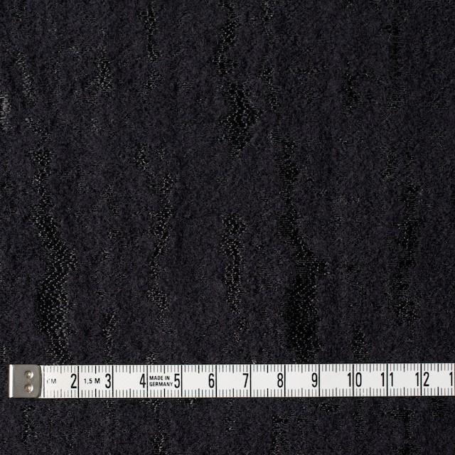 ウール&ナイロン混×無地(ブラック)×ジャガード イメージ4
